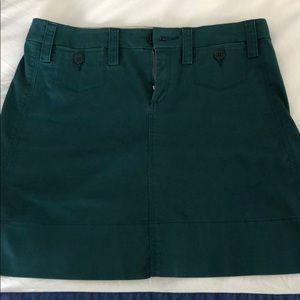 Anthropologie green skirt